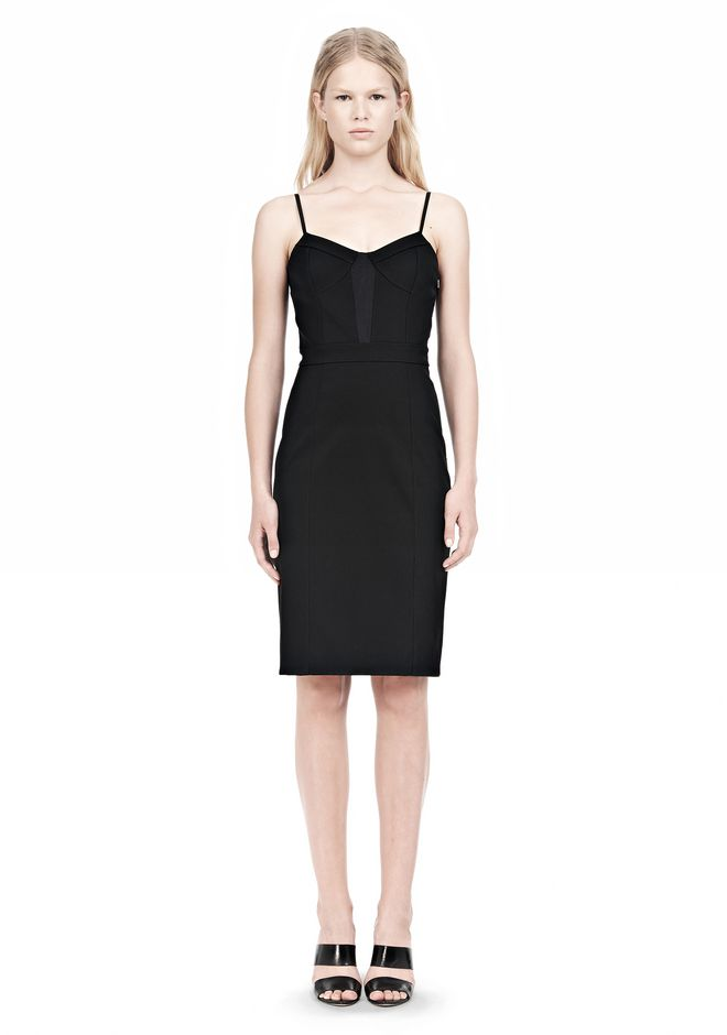 ALEXANDER WANG BUSTIER DRESS WITH CENTER MESH PANEL Short Dress Adult 12_n_f