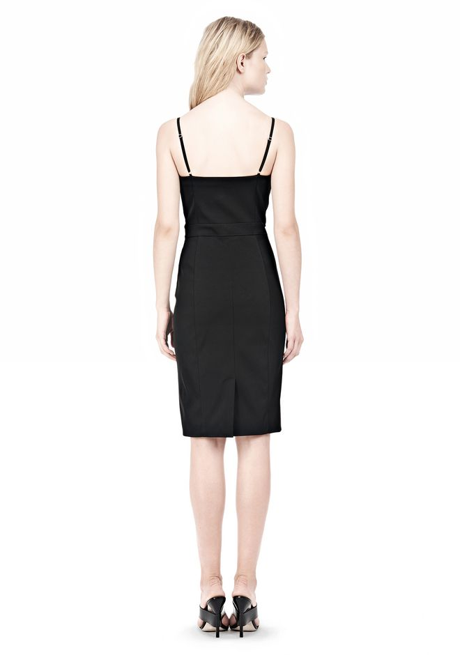 ALEXANDER WANG BUSTIER DRESS WITH CENTER MESH PANEL Short Dress Adult 12_n_r