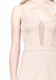 ALEXANDER WANG BUSTIER DRESS WITH CENTER MESH PANEL Short Dress Adult 8_n_d