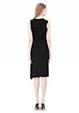 ALEXANDER WANG TWISTED DRAPE FRONT SLEEVLESS DRESS Short Dress Adult 8_n_r