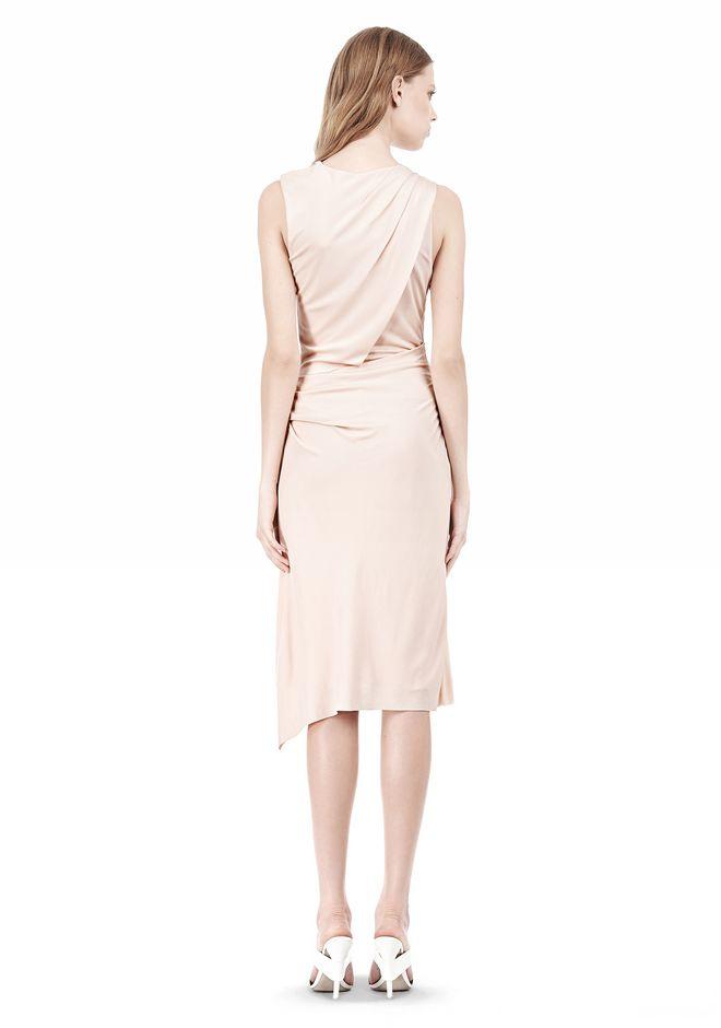 ALEXANDER WANG TWISTED DRAPE FRONT SLEEVLESS DRESS Short Dress Adult 12_n_r