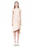 ALEXANDER WANG TWISTED DRAPE FRONT SLEEVLESS DRESS Short Dress Adult 8_n_f