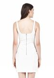 T by ALEXANDER WANG DOUBLE FACE STRETCH COTTON SQUARE NECK DRESS Short Dress Adult 8_n_d