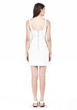 T by ALEXANDER WANG DOUBLE FACE STRETCH COTTON SQUARE NECK DRESS Short Dress Adult 8_n_r