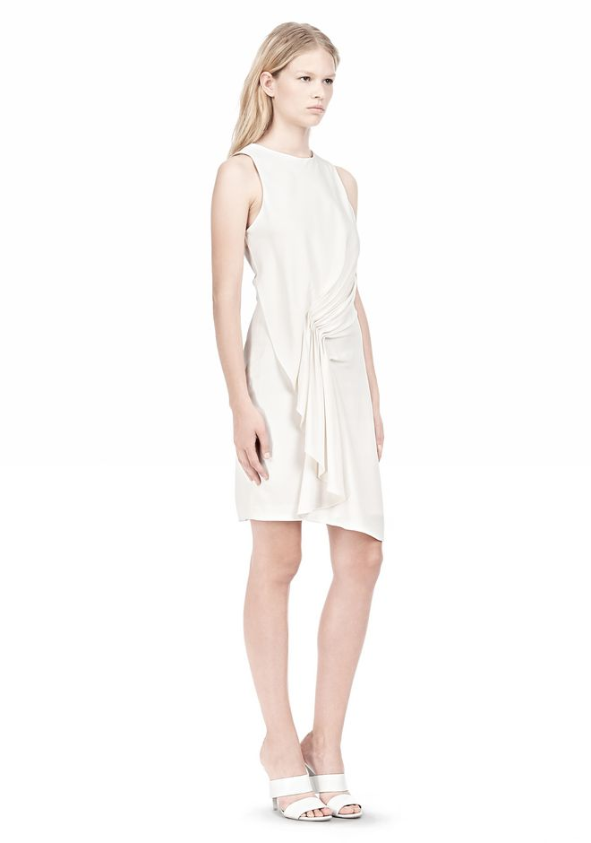 ALEXANDER WANG CASCADE FRONT SLEEVELESS DRESS Short Dress Adult 12_n_e