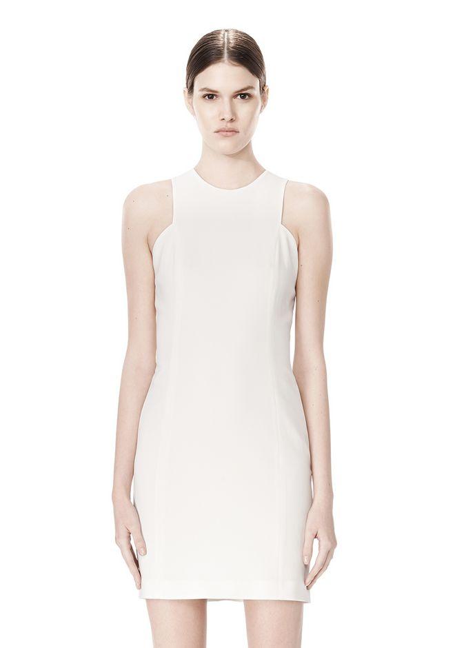 ALEXANDER WANG EXCLUSIVE CROSSOVER BACK SHIFT DRESS Short Dress Adult 12_n_d