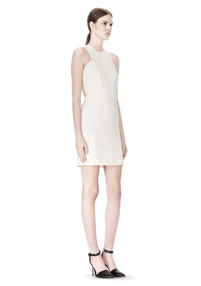 ALEXANDER WANG EXCLUSIVE CROSSOVER BACK SHIFT DRESS Short Dress Adult 12_n_e