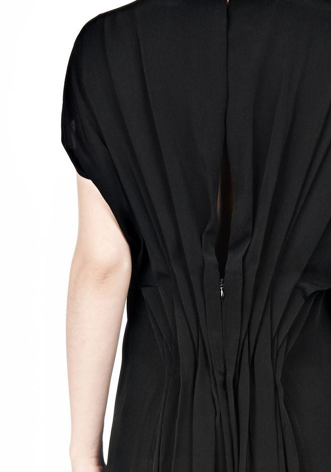 ALEXANDER WANG VACUUM PRESSED IRREGULAR PLEAT BACK DRESS Short Dress Adult 12_n_d