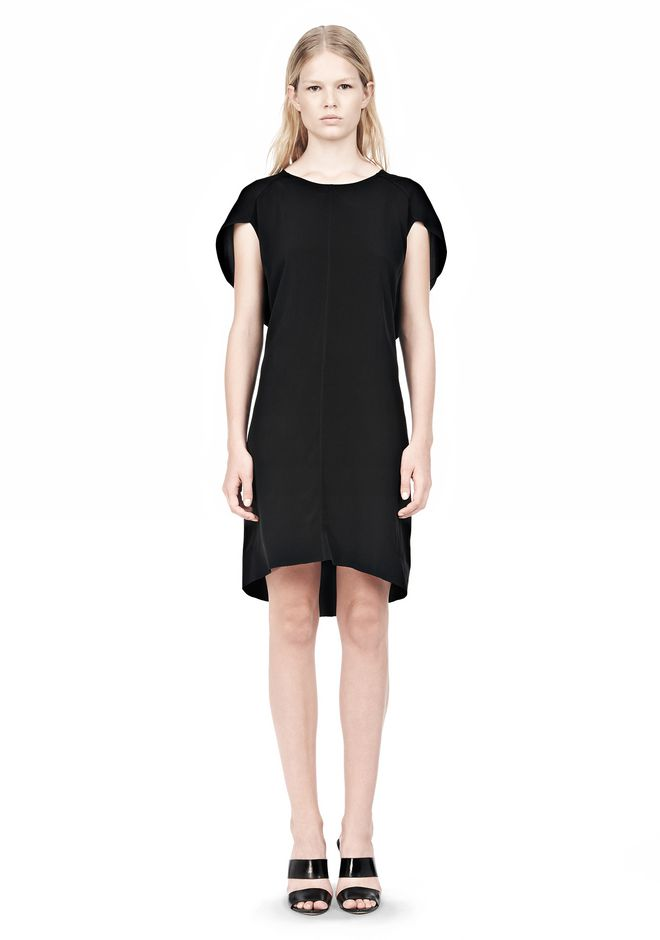 ALEXANDER WANG VACUUM PRESSED IRREGULAR PLEAT BACK DRESS Short Dress Adult 12_n_f