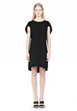 ALEXANDER WANG VACUUM PRESSED IRREGULAR PLEAT BACK DRESS Short Dress Adult 8_n_f