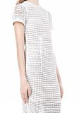 ALEXANDER WANG FITTED CROCHET TEE DRESS KNIT DRESS Adult 8_n_a