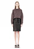 ALEXANDER WANG OVERSIZED LUREX SWEATSHIRT WITH PINTUCK DETAIL Crewneck Adult 8_n_f