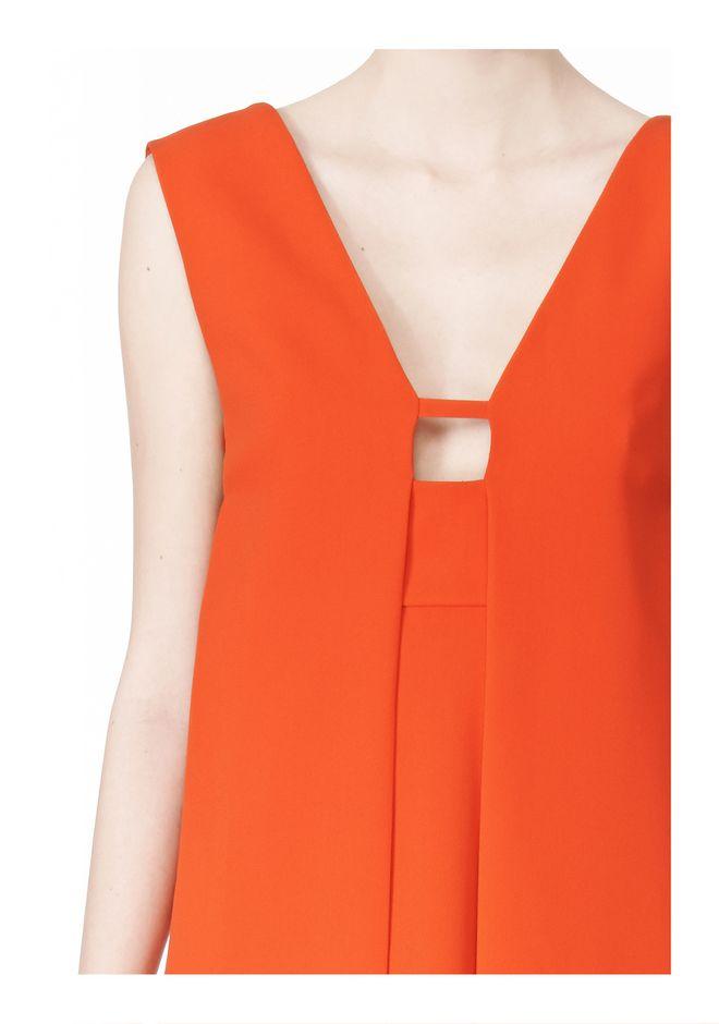 ALEXANDER WANG EXCLUSIVE SLEEVELESS DRESS WITH BOX PLEATS Short Dress Adult 12_n_a