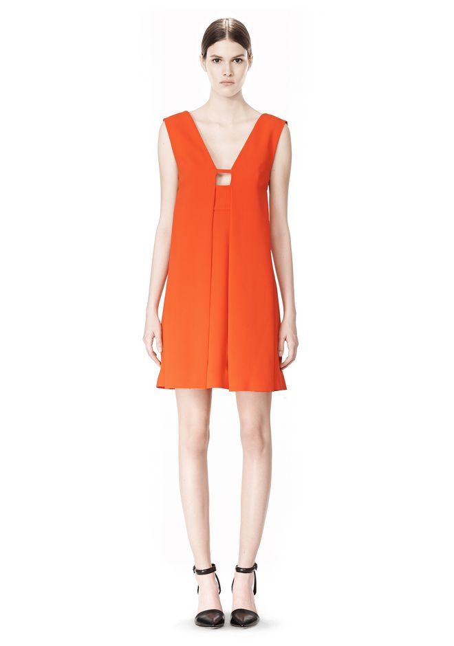 ALEXANDER WANG EXCLUSIVE SLEEVELESS DRESS WITH BOX PLEATS Short Dress Adult 12_n_f