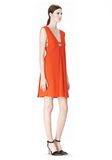 ALEXANDER WANG EXCLUSIVE SLEEVELESS DRESS WITH BOX PLEATS Short Dress Adult 8_n_e