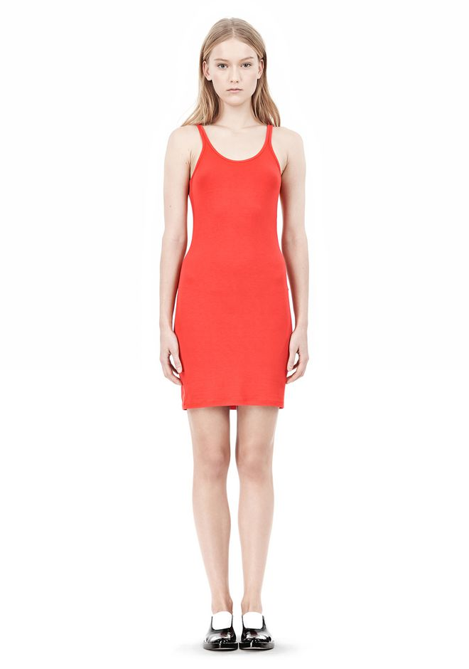 T by ALEXANDER WANG MODAL SPANDEX CAMI TANK DRESS Short Dress Adult 12_n_f