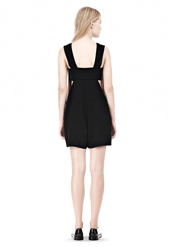 T by ALEXANDER WANG POLY CREPE LOW V-NECK ROMPER WITH BANDEAU INSERT Short Dress Adult 12_n_r