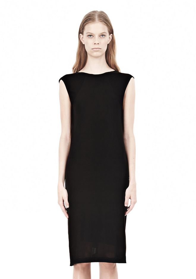 T by ALEXANDER WANG MATTE JERSEY DRESS WITH CRISSCROSS DRAPE BACK Short Dress Adult 12_n_d