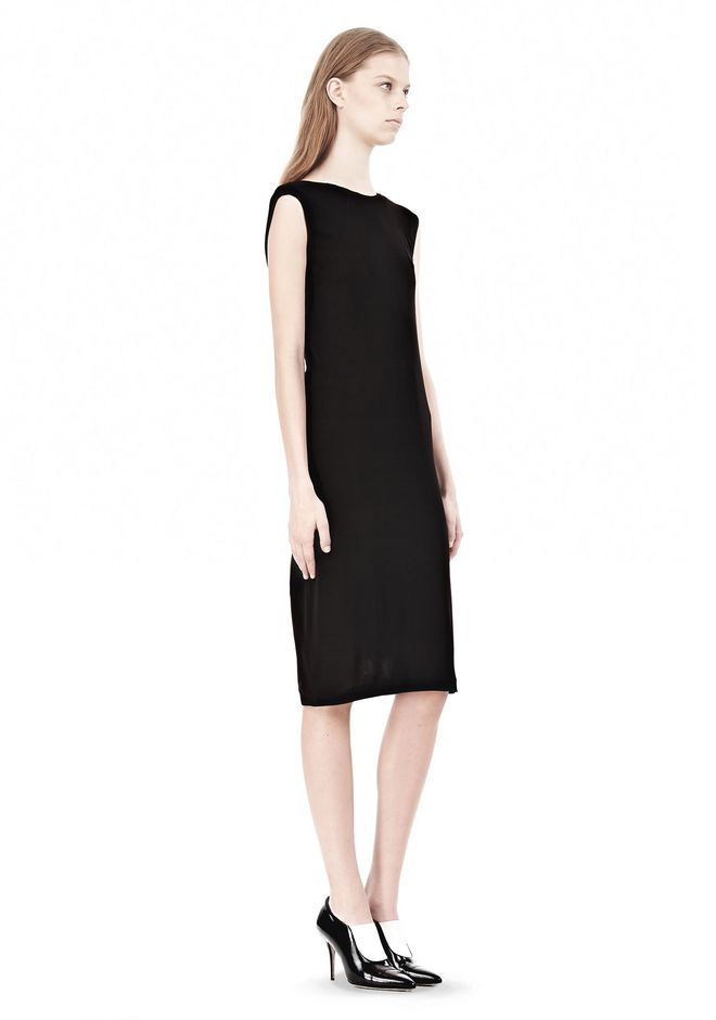 T by ALEXANDER WANG MATTE JERSEY DRESS WITH CRISSCROSS DRAPE BACK Short Dress Adult 12_n_e
