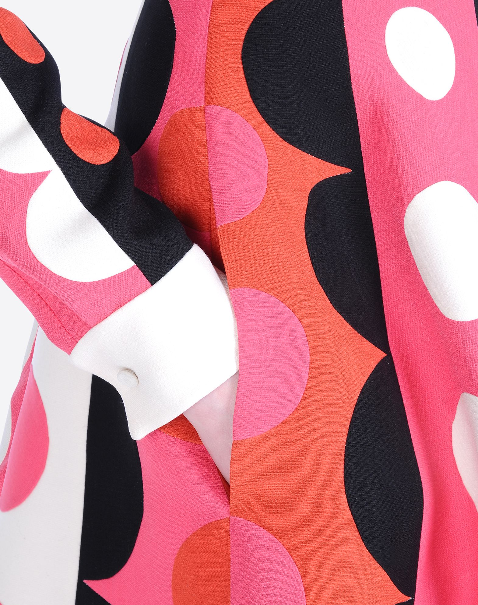 VALENTINO Crêpe Geometric design Classic Neckline Single button cuffs Lined interior Long sleeves  34421221xg