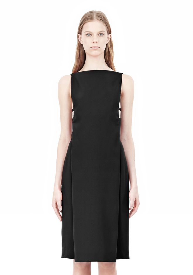 ALEXANDER WANG BOAT NECK DRESS WITH BRA STRAP DETAIL Short Dress Adult 12_n_d