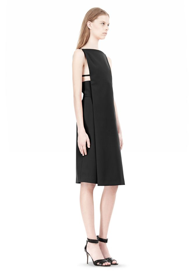 ALEXANDER WANG BOAT NECK DRESS WITH BRA STRAP DETAIL Short Dress Adult 12_n_e