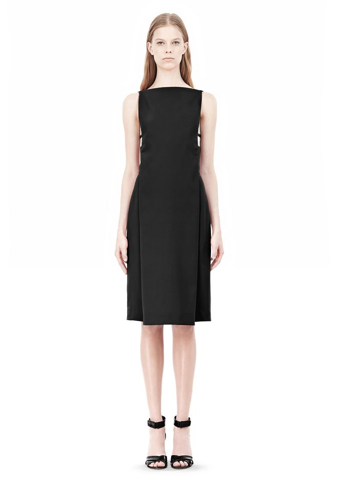 ALEXANDER WANG BOAT NECK DRESS WITH BRA STRAP DETAIL Short Dress Adult 12_n_f