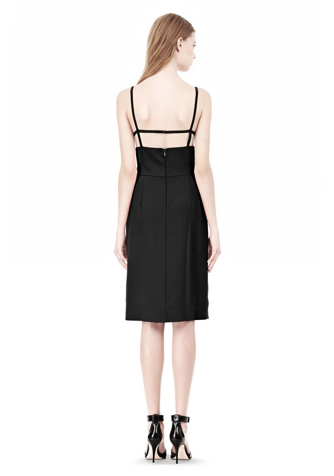 ALEXANDER WANG BOAT NECK DRESS WITH BRA STRAP DETAIL Short Dress Adult 12_n_r