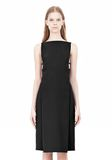 ALEXANDER WANG BOAT NECK DRESS WITH BRA STRAP DETAIL Short Dress Adult 8_n_d