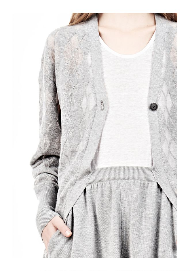 ALEXANDER WANG ARGYLE MENS INSPIRED CARDIGAN AND BOXER KNIT DRESS Adult 12_n_a
