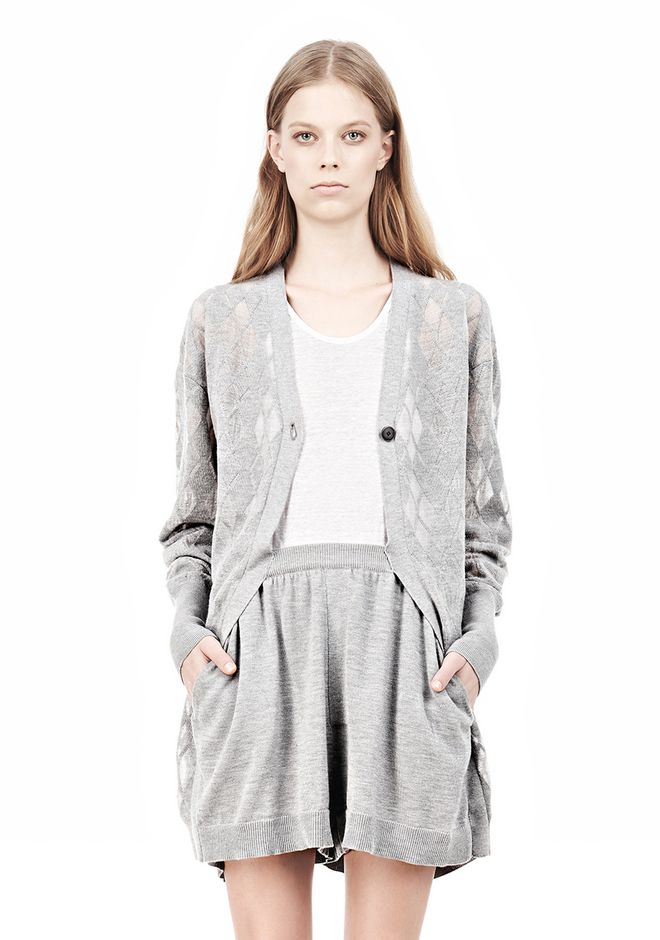 ALEXANDER WANG ARGYLE MENS INSPIRED CARDIGAN AND BOXER KNIT DRESS Adult 12_n_d