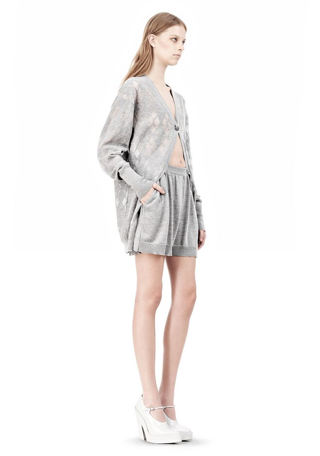ALEXANDER WANG ARGYLE MENS INSPIRED CARDIGAN AND BOXER KNIT DRESS Adult 12_n_e