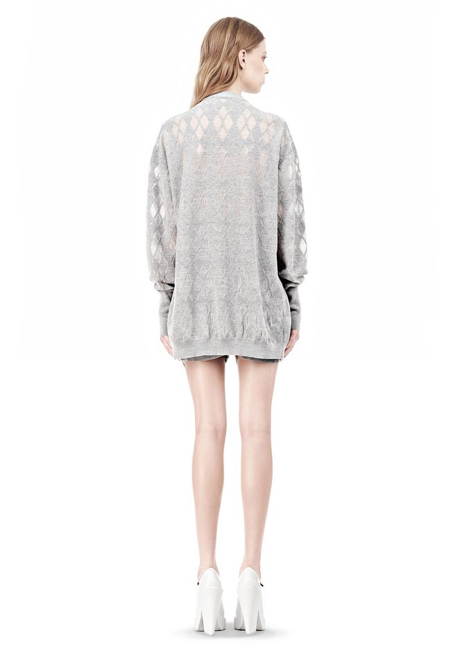 ALEXANDER WANG ARGYLE MENS INSPIRED CARDIGAN AND BOXER KNIT DRESS Adult 12_n_r