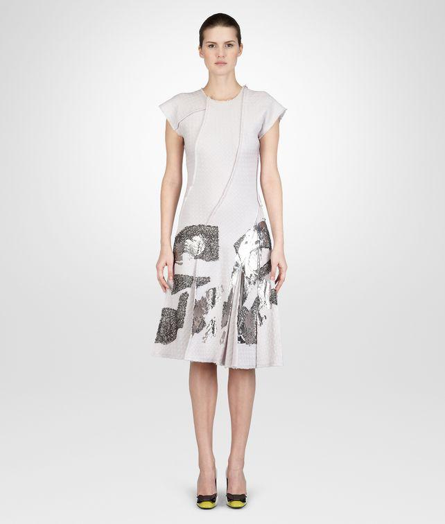 BOTTEGA VENETA MIST SILVER JACQUARD LAMINATED PRINT DRESS Dress D fp