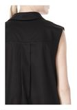 T by ALEXANDER WANG LOW V-NECK COLLARED SLEEVELESS TUNIC Short Dress Adult 8_n_a