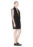 T by ALEXANDER WANG LOW V-NECK COLLARED SLEEVELESS TUNIC Short Dress Adult 8_n_e