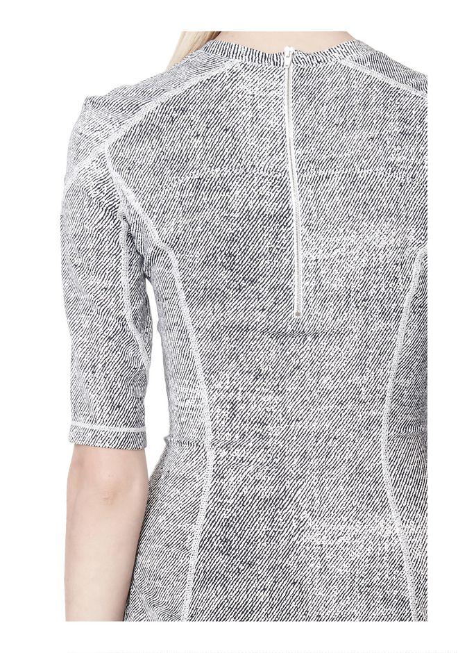T by ALEXANDER WANG GEORGETTE SHORT SLEEVE SCUBA DRESS Short Dress Adult 12_n_a