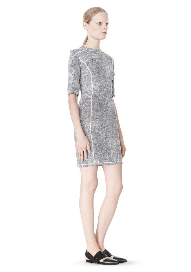 T by ALEXANDER WANG GEORGETTE SHORT SLEEVE SCUBA DRESS Short Dress Adult 12_n_e
