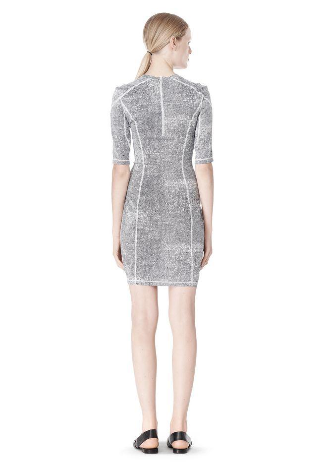 T by ALEXANDER WANG GEORGETTE SHORT SLEEVE SCUBA DRESS Short Dress Adult 12_n_r