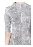 T by ALEXANDER WANG GEORGETTE SHORT SLEEVE SCUBA DRESS Short Dress Adult 8_n_a