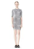 T by ALEXANDER WANG GEORGETTE SHORT SLEEVE SCUBA DRESS Short Dress Adult 8_n_f