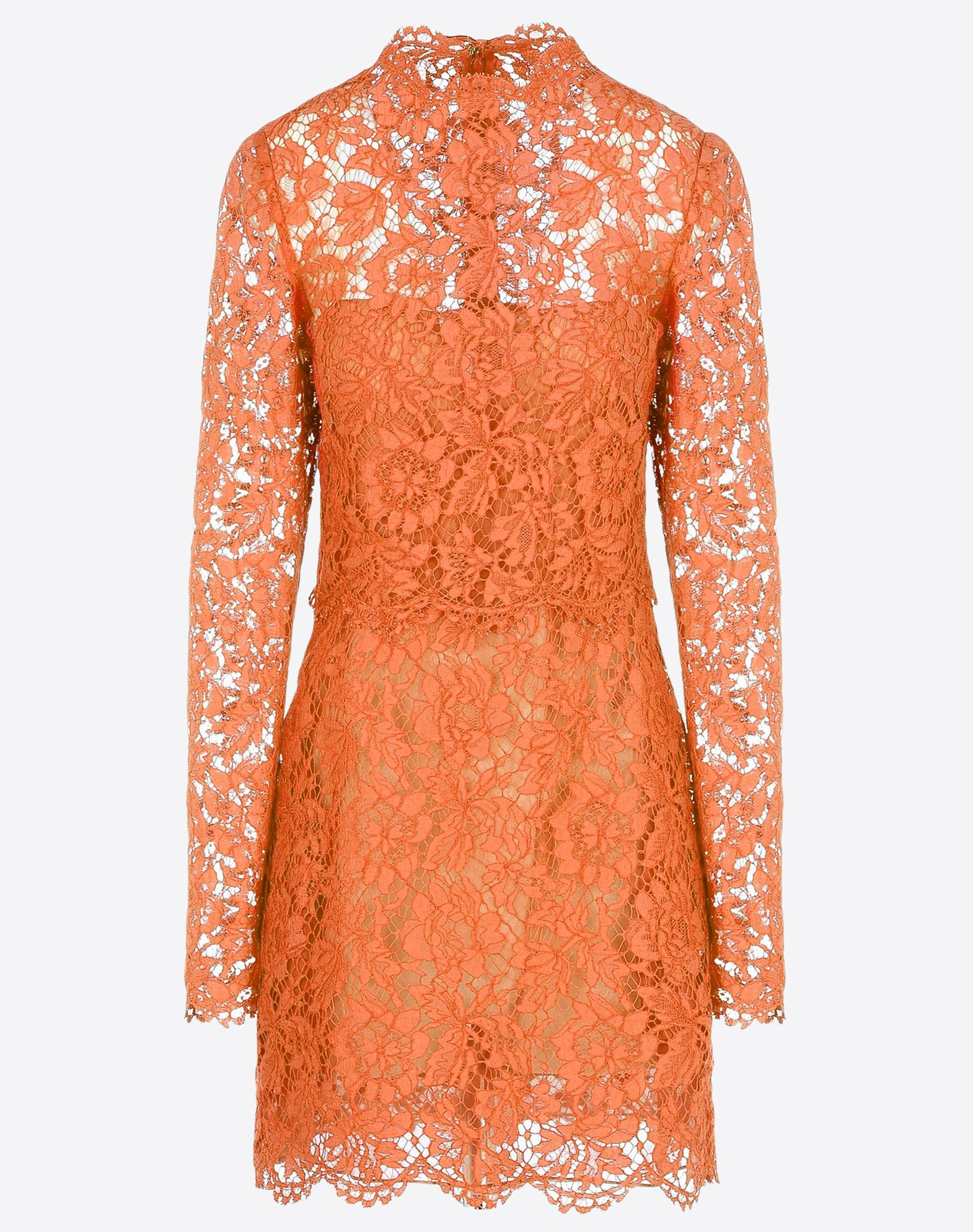 VALENTINO Pleated detailing Lace Solid color Round collar Zip Hook-and-eye closure Two front pockets Lined interior Long sleeves  34440918br