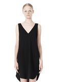 T by ALEXANDER WANG POLY CREPE V-NECK STRAP DRESS Short Dress Adult 8_n_d