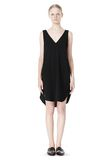 T by ALEXANDER WANG POLY CREPE V-NECK STRAP DRESS Short Dress Adult 8_n_f