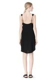 T by ALEXANDER WANG POLY CREPE V-NECK STRAP DRESS Short Dress Adult 8_n_r