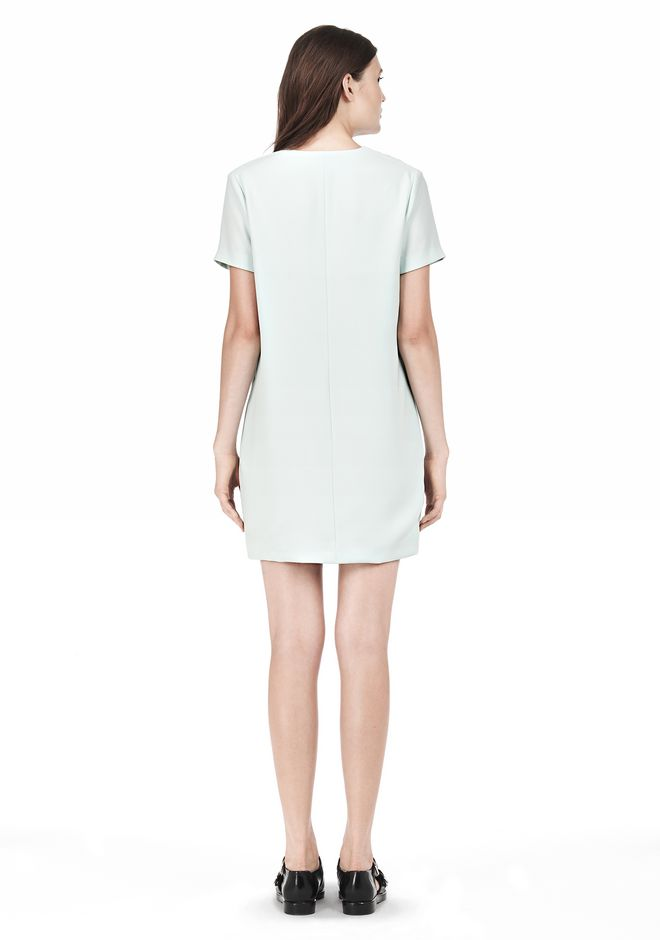 T by ALEXANDER WANG DRAPE SUITING VNECK DRESS Short Dress Adult 12_n_r