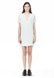 T by ALEXANDER WANG DRAPE SUITING VNECK DRESS Short Dress Adult 8_n_f