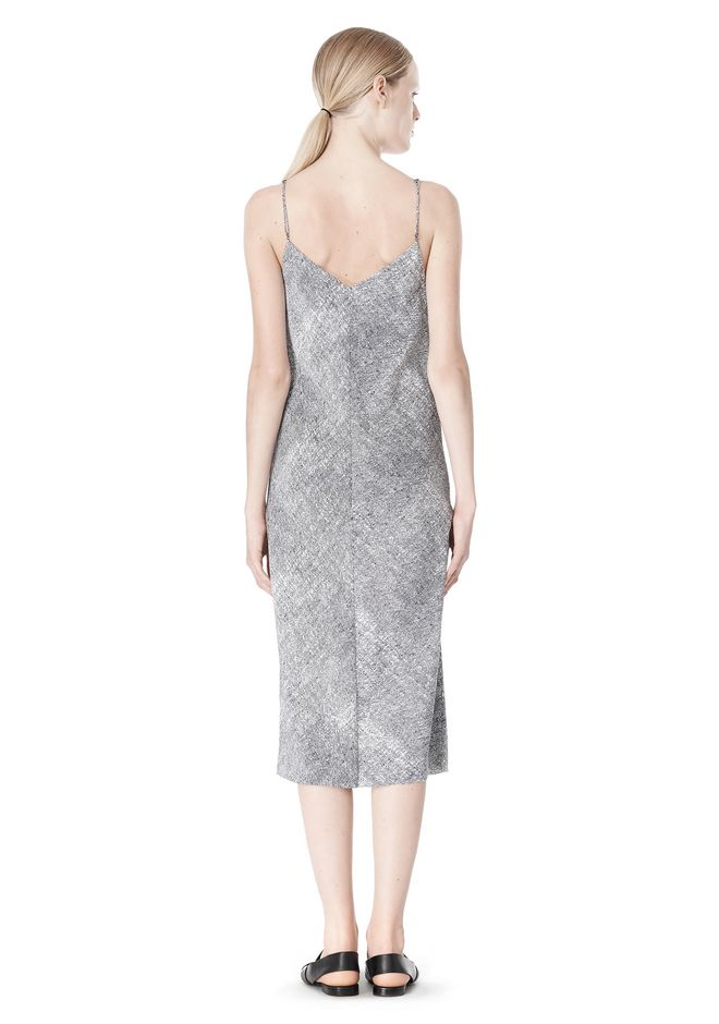 T by ALEXANDER WANG GEORGETTE SLIP DRESS 3/4 length dress Adult 12_n_r