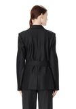 ALEXANDER WANG PINSTRIPE ROBE BLAZER WITH BELT JACKETS AND OUTERWEAR  Adult 8_n_a