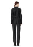 ALEXANDER WANG PINSTRIPE ROBE BLAZER WITH BELT JACKETS AND OUTERWEAR  Adult 8_n_r